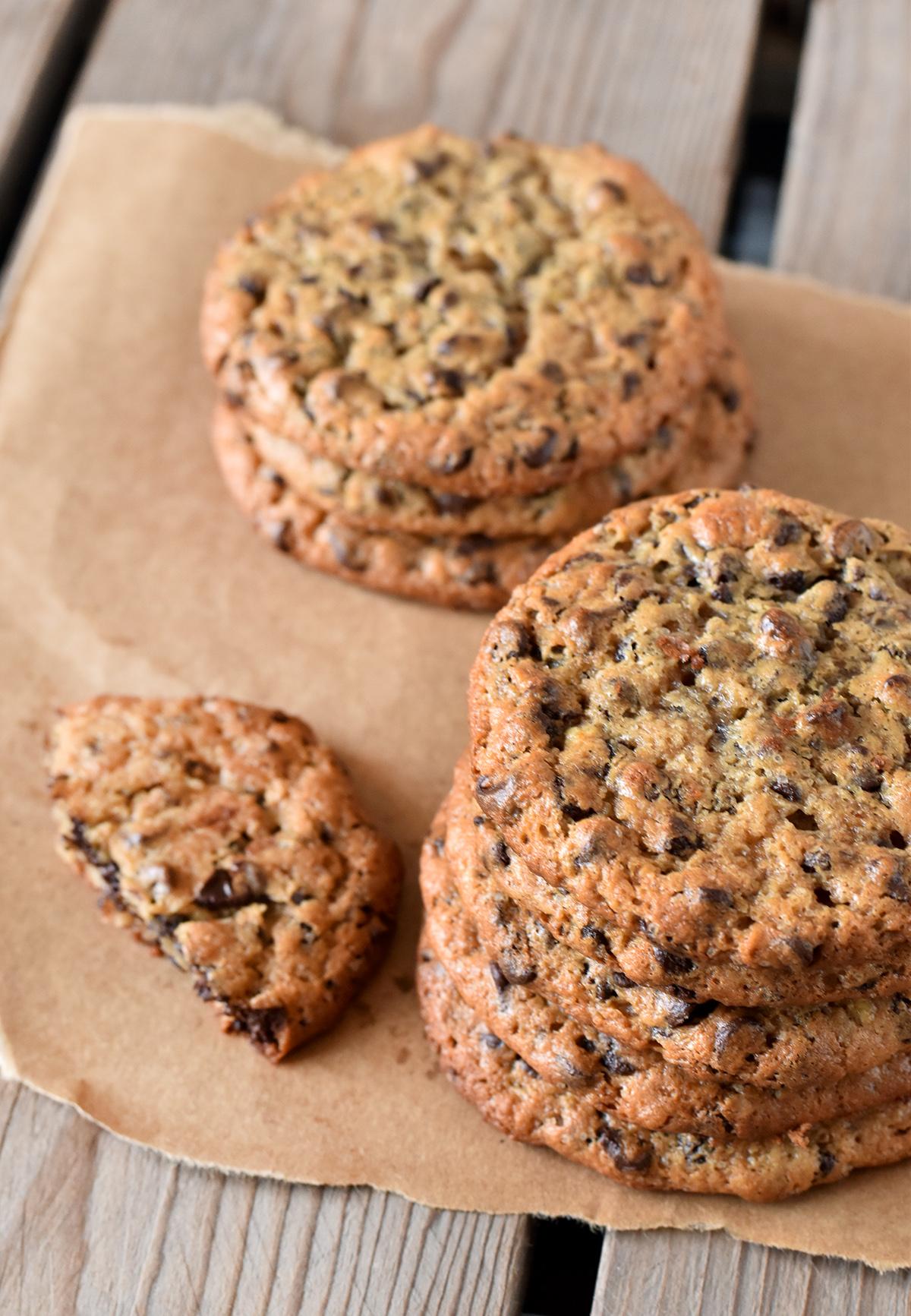 עוגיות שוקולד צ'יפס ללא קמח וללא חמאה